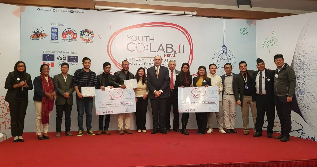 "A terrific moment for the entire ""AeroRoots"" family as we are declared winner of annual National event ""Youth Co:Lab Nepal II"" Jointly organized by UNDP/AYON/NYC Nepal/Youth Force Nepal 2030. At this moment we would like to Thank all our family, friends, clients, partners, mentors, organizer and well-wishers. Thank you for believing in us."